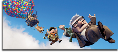 "Carl, Russell, Dug and Kevin in Pixar's ""Up"""