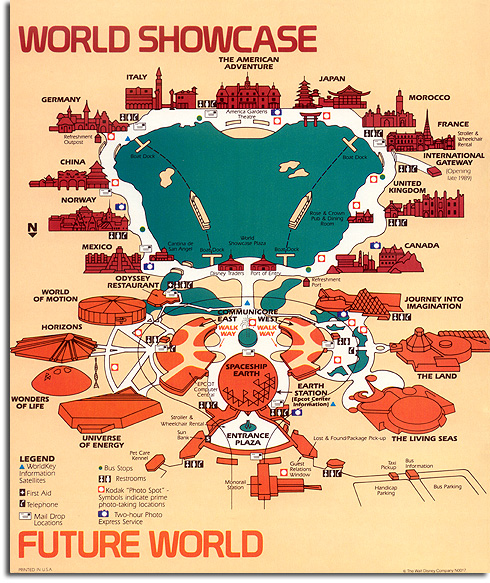 EPCOT Center guidemap, 1989