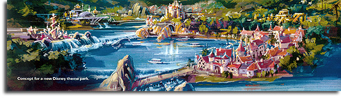 Rendering of possible Shanghai Disneyland, 2006