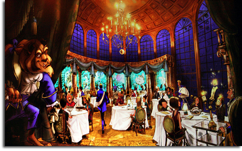 Rendering of the Be Our Guest restaurant