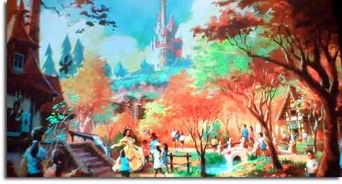 Rendering of Belle's Village from the Walt Disney World Fantasyland expansion