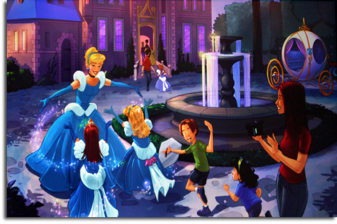 Rendering of the Cinderella meet-and-greet in the new Walt Disney World Fantasyland expansion