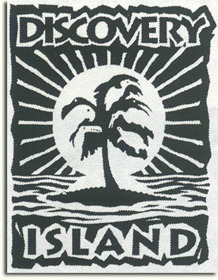 Proposed Discovery Island logo by Ed Haro & Terry Dobson, 1993