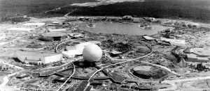 EPCOT Center under construction, 1982