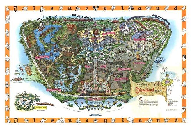 Disneyland souvenir maps