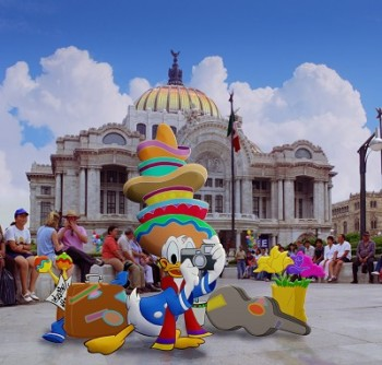 Donald in EPCOT Center's Gran Fiesta Tour