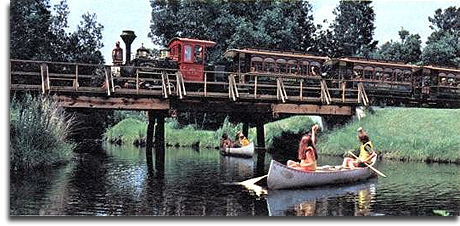 Fort Wilderness Railroad on trestle