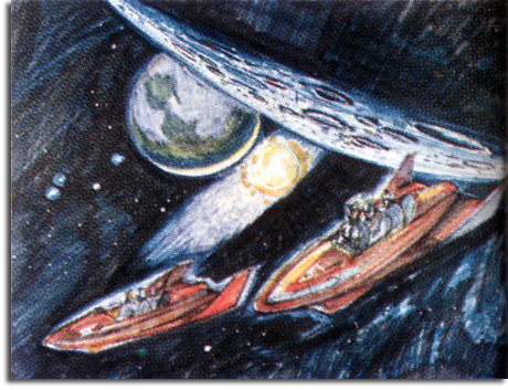 Space Mountain concept sketch, 1965