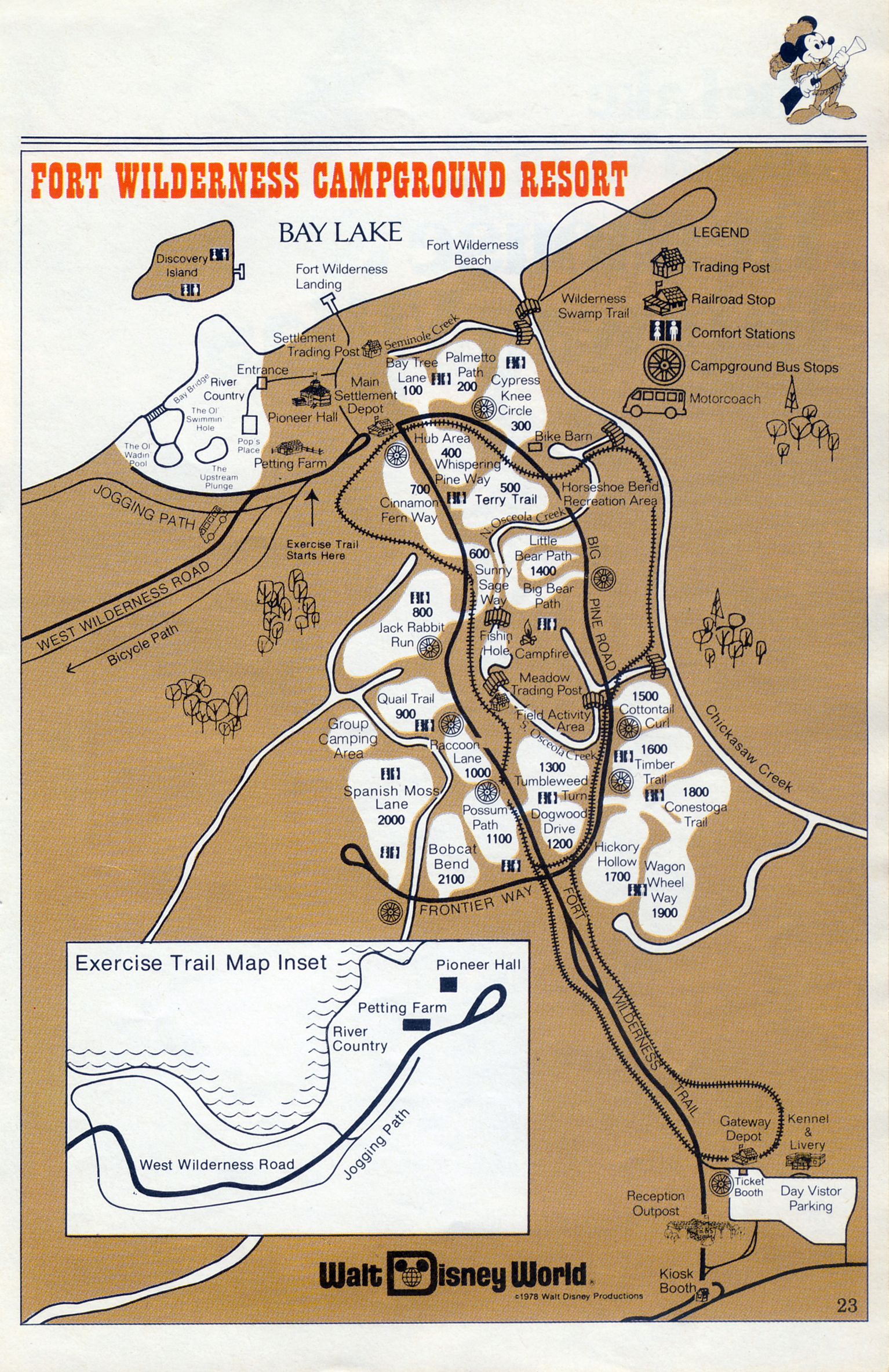 Maps fort wilderness 1978 progress city usa map of fort wilderness 1978 gumiabroncs Image collections