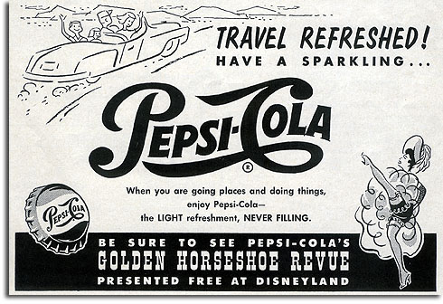 Ad for Pepsi at Disneyland, 1957